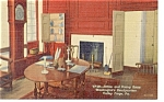 Valley Forge PA Headquarters Dining Room Postcard p11227