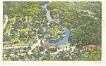 Aerial View of Silver Springs  Florida Postcard p11275