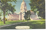 Topeka KS The State Capitol Postcard p11288