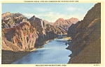 Click here to enlarge image and see more about item p1128: Colorado River From Boulder Dam Postcard p1128
