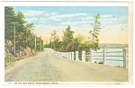 Click here to enlarge image and see more about item p11328: Bar Harbor ME On The Bay Drive Postcard p11328