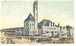St Louis, MO, Union Station Postcard 1909