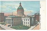 Click here to enlarge image and see more about item p11353: St Louis MO Court House Postcard p11353