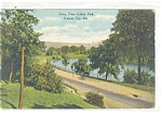 Click here to enlarge image and see more about item p11356: Kansas City MO Penn Valley Park Postcard p11356 1910