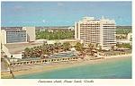 Miami Beach,FL, Americana Hotel Postcard 1962