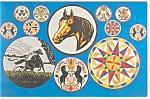 Intercourse,PA, Hex Signs From Hex Barn Postcard