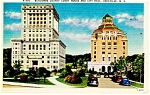 Asheville NC City Hall and Court House Postcard p11419