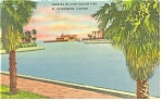 St Petersburg FL Million Dollar Pier Postcard p11424 1946