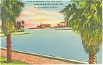 St Petersburg FL Million Dollar Pier Postcard p11438 1946