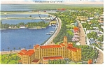 St Petersburg FL Waterfront Park Postcard p11439 1968