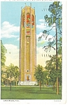 Click here to enlarge image and see more about item p11445: Lake Wales,FL, The Singing Tower Postcard 1937