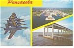 Pensacola FL Blue Angels Postcard p11555 1976