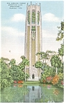 Click here to enlarge image and see more about item p11568: Lake Wales,FL, The Singing Tower Postcard 1945