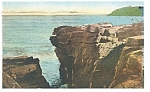 Click here to enlarge image and see more about item p11583: Bar Harbor,ME, Thunder Hole Postcard ca 1938