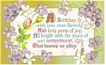 Click here to enlarge image and see more about item p11600: A Birthday with Love Overflowing Vintage Postcard