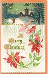 Click here to enlarge image and see more about item p11606: Christmas Postcard Poinsettia Tucks Postcard p11606 1911