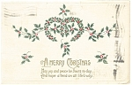 Christmas Postcard String of Holly 1913