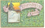 Christmas Postcard Hilltop Tree 1911