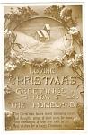 Christmas Canadaian Postcard Snow Scene