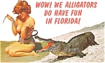 Florida Alligator and Bathing Beauty  Postcard p1162