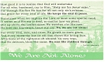 Click here to enlarge image and see more about item p11642: We Are Not Alone Postcard p11642 Poem