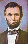 Click here to enlarge image and see more about item p11654: Abraham Lincoln 16th President Postcard p11654