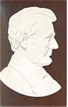 Click here to enlarge image and see more about item p11655: Abraham Lincoln Marble Relief Carving Postcard