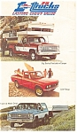 Click here to enlarge image and see more about item p11669: Chevy Trucks Advertising Postcard