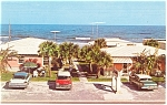Daytona Beach,FL, Sea Esta Motel Postcard Cars 50s