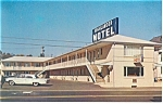 The Highlander Motel, Somerset,PA Postcard Car 60s