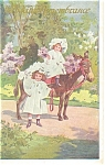 Victorian Children and Donkey Postcard p11767 ca 1910