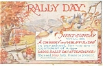 Click here to enlarge image and see more about item p11769: Rally Day Vintage Postcard p11769