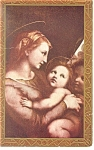 Click here to enlarge image and see more about item p11782: Madonna and Christ Child  Vintage Postcard p11782