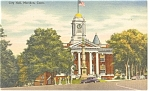 Meriden, CT, City Hall Postcard