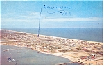 Aerial View of Dewey Beach DE Postcard p11859