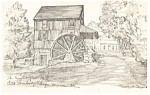 Wight Grist Mill,Old Sturbridge Village, MA Postcard