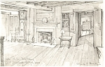Fitch House Parlor Old Sturbridge Village MA Postcard p11872