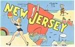 Click here to enlarge image and see more about item p11888: Atlantic City,NJ Greetings from New Jersey Postcard