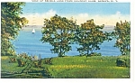 Geneva NY Seneca Lake from Country Club Postcard p11893