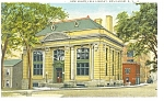 Click here to enlarge image and see more about item p11899: Amsterdam NY Free Library Postcard p11899