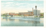 Amsterdam NY Chalmers Knitting Mills Postcard p11903