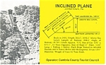 Johnstown PA  Inclined Plane Diagram Postcard p11909