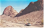 Click here to enlarge image and see more about item p11915: Near Lake Havasu, Arizona Postcard Car 50s