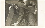 Click here to enlarge image and see more about item p11940: Jesus Carrying His Cross Postcard p11940