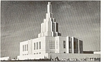 Click here to enlarge image and see more about item p1195: LDS Temple Idaho Falls Idaho  Postcard p1195