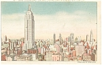 Empire State Building New York City Postcard p11969