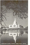 Click here to enlarge image and see more about item p1196: Idaho Falls Idaho LDS Temple   Postcard