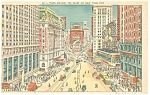 Times Square Street Scene,New York City Postcard