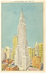 Chrysler Building New York City Postcard p11971