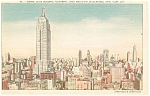Empire State Building New York City Postcard p11976